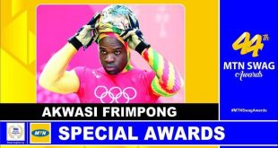FRIMPONG WINS 44th MTN SWAG AWARD